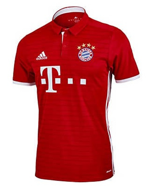 adidas Bayern Munich Home Jersey 16/17 - Red  (32218)