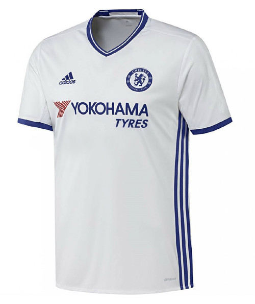 Adidas Chelsea FC Third Kit 16/17 - White/Chelsea Blue