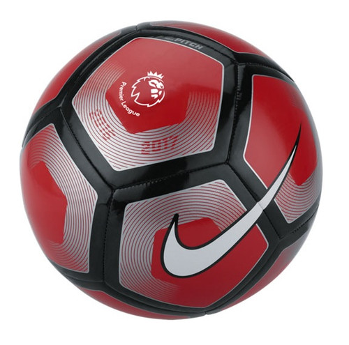 Nike Premier League Pitch Ball - Red/Black/Silver