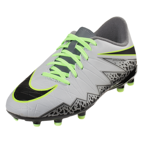 Nike Hypervenom Phelon II FG -  Pure Platinum/Black/Ghost Green/Cool Grey/Metallic Silver/Clear Jade (123016)