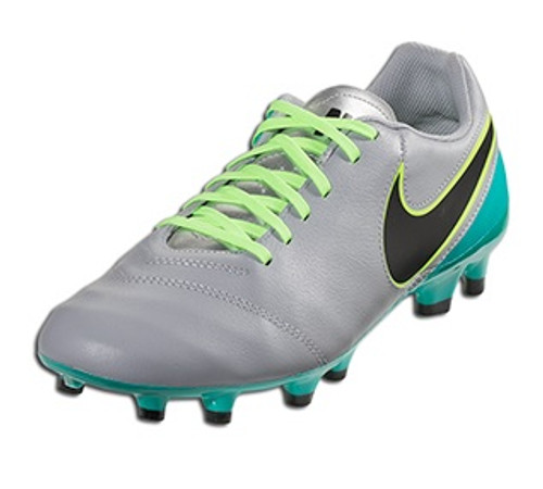 Nike Tiempo Genio Leather FG - Wolf Grey/Clear Jade/Black/Volt (100518)