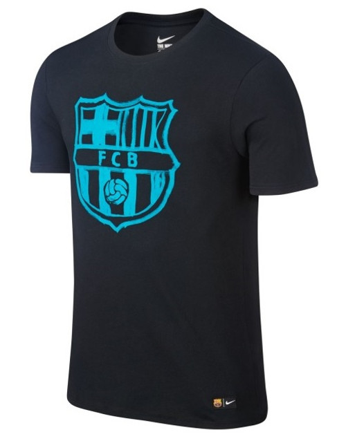 Nike Barcelona Crest Tee - Black/Blue