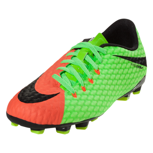 Nike Jr Hypervenom Phelon III FG - Electric Green/Hyper Orange