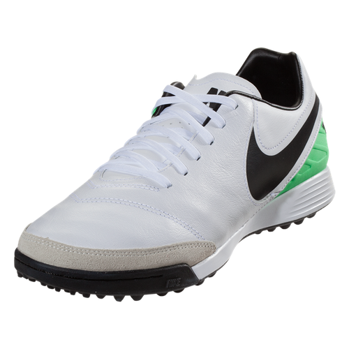 Nike TiempoX Genio II Leather TF - White/Black/Electro Green(41917)