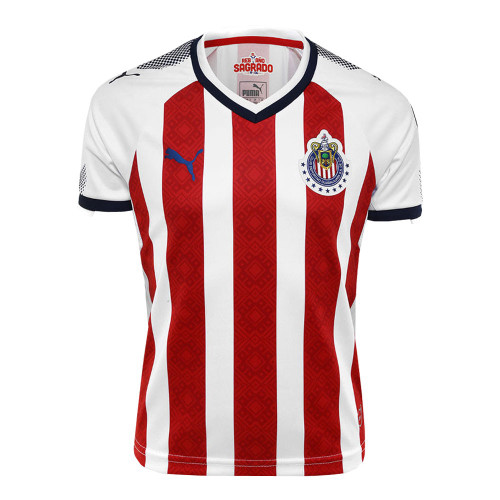 Puma Chivas Youth 2017/18 Home Jersey - Red/Navy/White RC (11819)