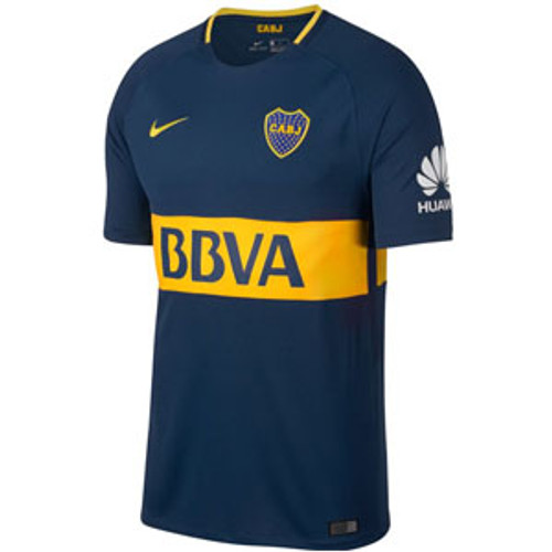 Nike Boca Juniors Home Jersey 2017-2018 - Navy/Yellow  (10617)