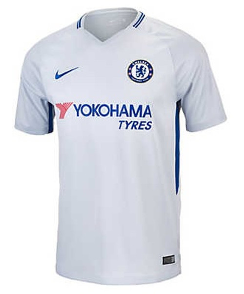 Nike Chelsea FC 2017-2018 Away Jersey - Light Grey/Blue (10817)
