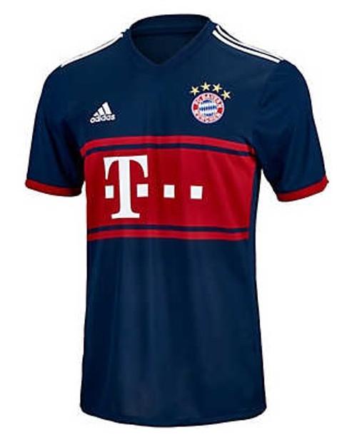 Adidas Bayern Munich 2017-2018 Away Jersey - Collegiate Navy/True Red (10817)