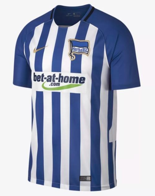 Nike Hertha Berlin 2017-2018 Home Jersey - Blue/White (10817)