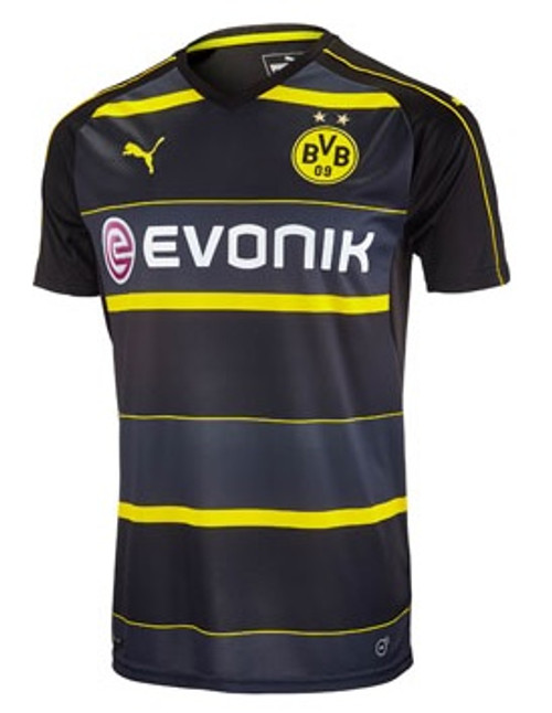 Puma Borussia Dortmund 2016-2017 Away Jersey - Black/Cyber Yellow (53018)