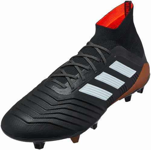 Adidas Predator 18.1 FG - Black/White/Solar Red (111617)