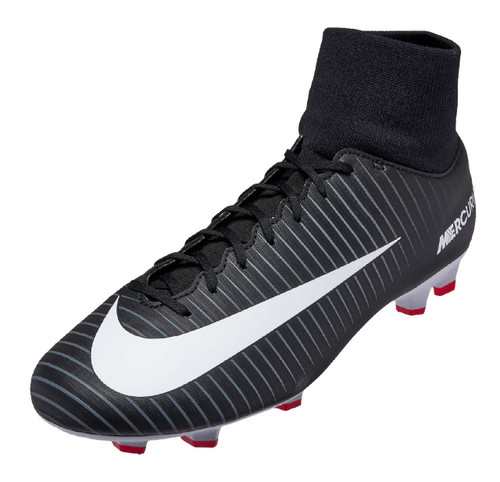 Nike Mercurial Victory VI DF FG - Black/White/Dark/Grey (32618)