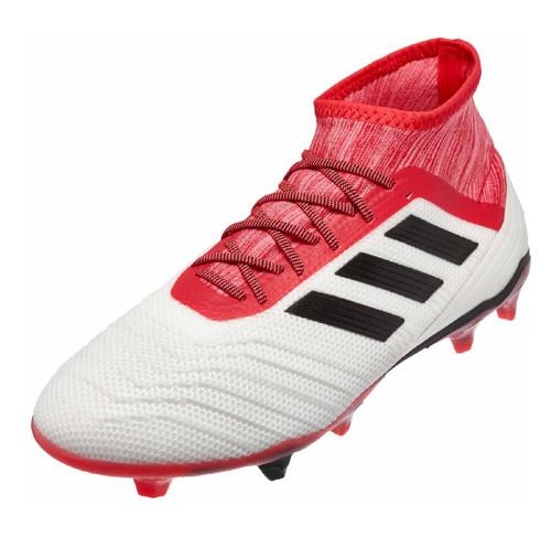 Adidas Predator 18.2 FG - White/Core Black/Real Coral (110618) RC