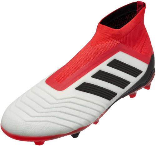 Adidas Predator 18+ FG J - White/Core Black/Real Coral (21118)