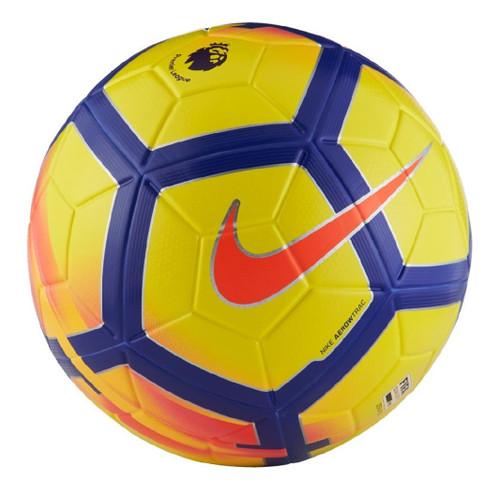 Nike Ordem V Premier League 17/18  Official Match Ball - Yellow/Purple/Crimson (41518)