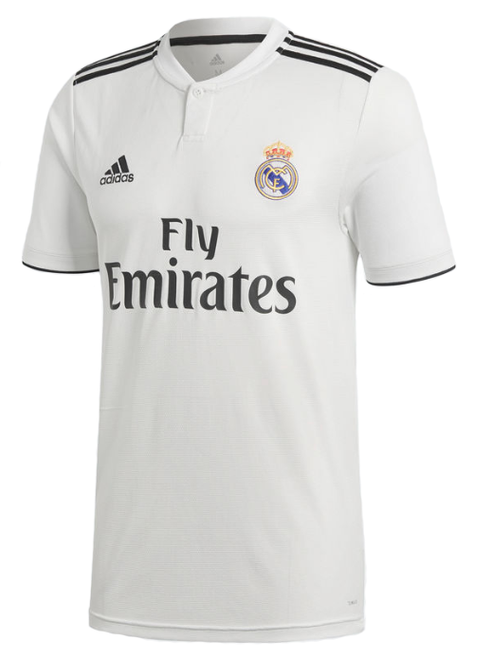Adidas Real Madrid Home Jersey 18/19 - White/Black (020119)