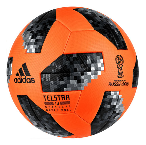 Adidas Telstar World Cup 2018 Official Winter Match Ball - Orange/Black (52318)