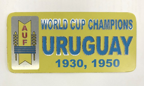 Uruguay World Cup Champions Metal Sticker - Yellow/Blue (52818)
