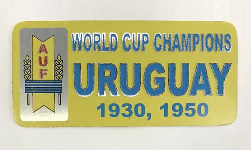 Uruguay World Cup Champions Metal Sticker - Yellow/Blue (52818)