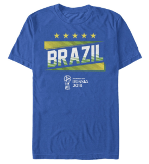 World Cup 2018 Brazil Tee - Royal (6318)