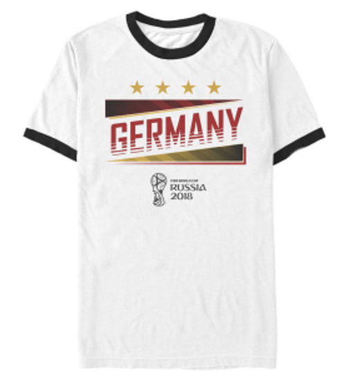 World Cup 2018 Germany Tee - White/Black Ringer (6318)