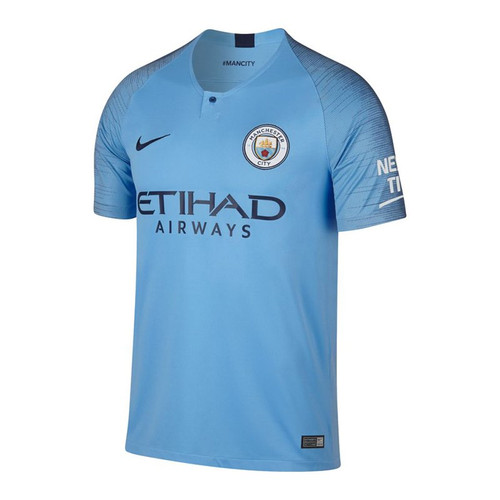 Nike Manchester City 18/19 Home Jersey - Field Blue/Midnight Navy (10518)