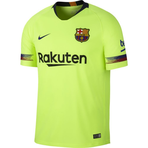 Nike Barcelona 18/19 Away Jersey - Volt/Deep Royal Blue (72518)