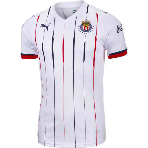 Puma Chivas 18/19 Replica Away Jersey - White/Red-New Navy
