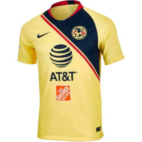 Nike Club America 18/19 Home Replica Jersey - Yellow/Navy RC (11819)