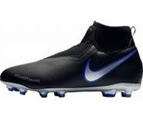 Nike Junior Phantom VSN Academy Df FG/MG -Black/ Metallic Silver (10818)