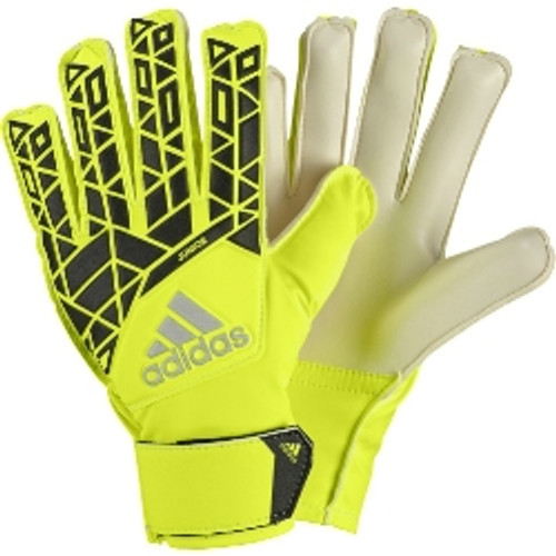 Adidas Ace Junior GoalKeeper Gloves -Solar Yellow/Black (10818)