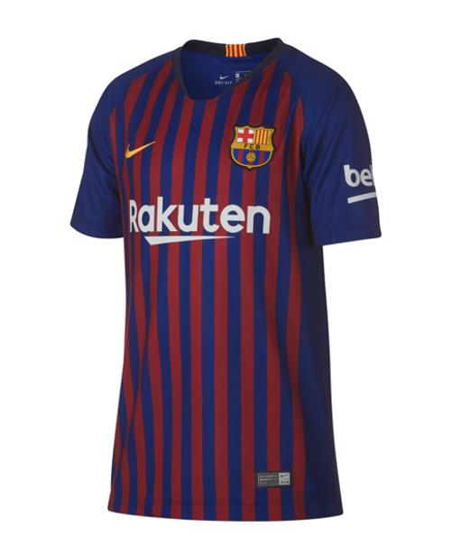 98796ddf212 Nike F.C. Barcelona 18 19 Home Jersey Jr - Deep Royal Blue University Gold