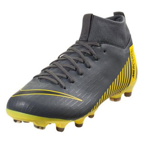 Nike Superfly 6 Academy GS FG/MG - Dark Grey/Yellow (11519)
