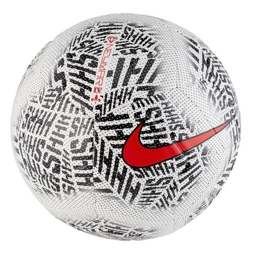Nike Neymar Jr. Strike Soccer Ball  - White/Black/Challenge Red (012119)