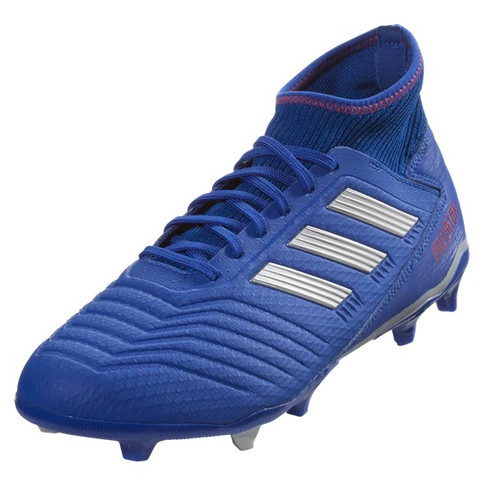 Adidas Predator 19.3 FG - Bold Blue/Silver Metallic/Active Red (012419)