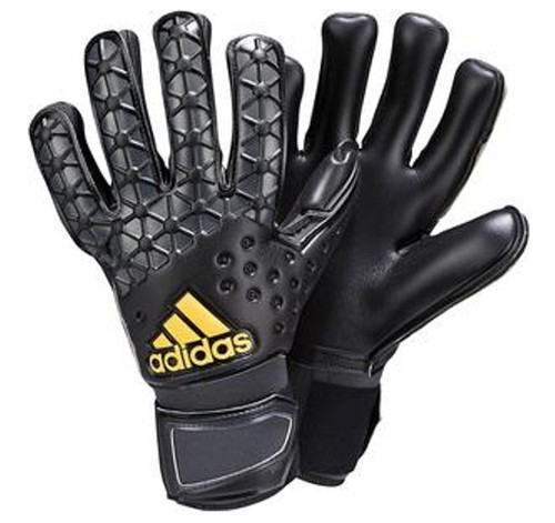 Adidas Ace Pro Classic Goalkeeper Gloves - Black/Gray/Solar Gold RC (012819)