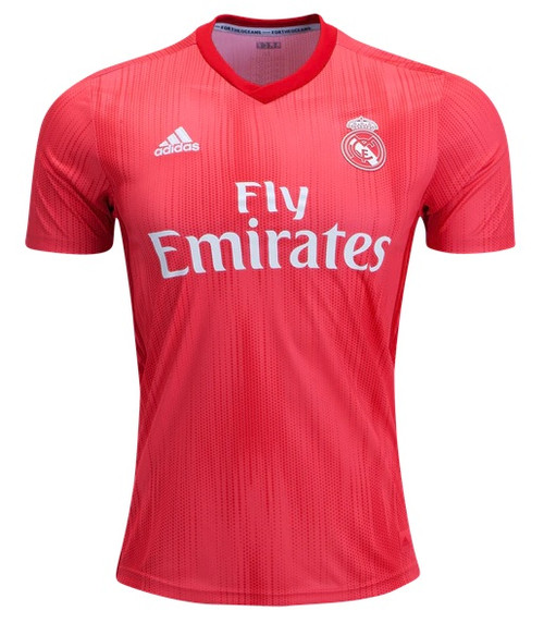 Adidas Real Madrid 3rd Jersey - Real Coral/Vivid Red (013119)