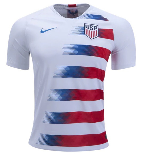 Nike USA 2018 Home Jersey - White/Speed Red/Blue Nebula (013119)