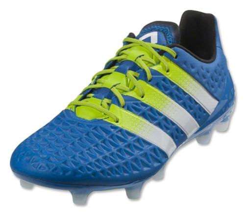 Adidas ACE 16.1 FG/AG Jr. - Shock Blue/White/Solar Slime (020419)