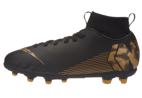 Nike Jr. Superfly 6 Club FG/ MG Multi-Ground Football Boot Black/ Vivid Gold