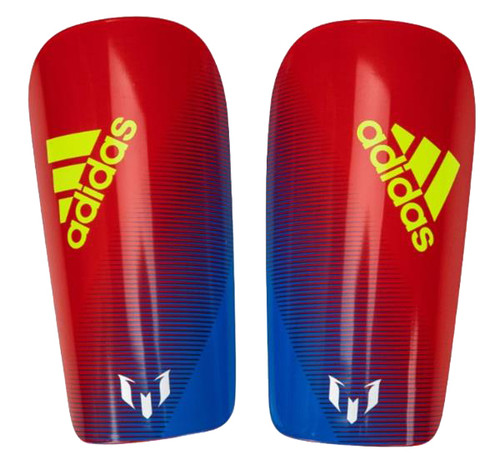 Adidas Lesto Messi 10 Shinguard - Bold Blue/Active Red/Silver Metallic (021719)
