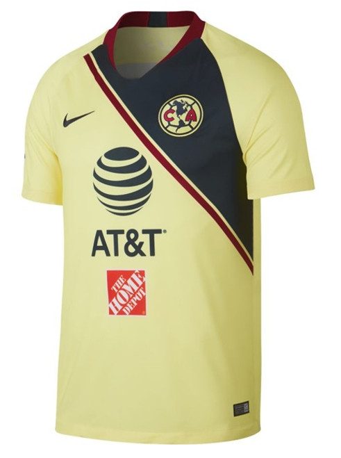 Nike 2018/19 Club America Stadium Home Jersey Jr. - Lemon Chiffon/Gym Red/Armory Navy (021719)