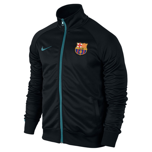 725e07c59 Nike Barcelona Core Hoodie - Black Heather Light Current Blue - ohp ...