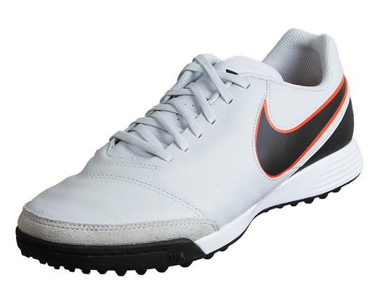 newest 8e3a5 82a0a Nike Tiempo Genio II Leather TF - Pure PlatinumBlackMetallic SilverHyper  Orange