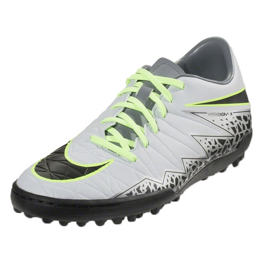 9410abf6b Nike Hypervenom Phelon II TF - Pure Platinum Black Ghost Green (123118)