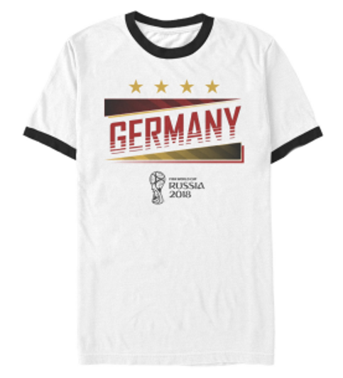 38caef94eb4 World Cup 2018 Germany Tee - White Black Ringer (6318)