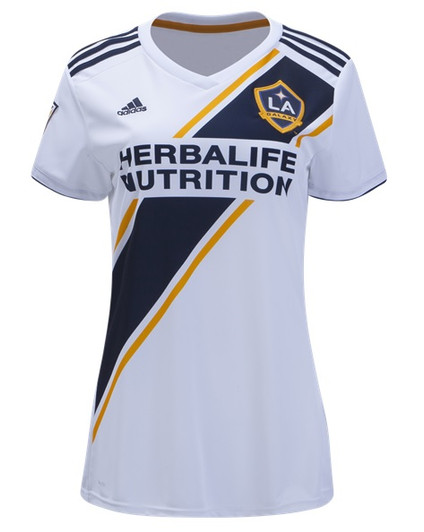 Adidas LA Galaxy Womens Home Jersey 19 20 White Navy Gold (030819) d7efd9d85