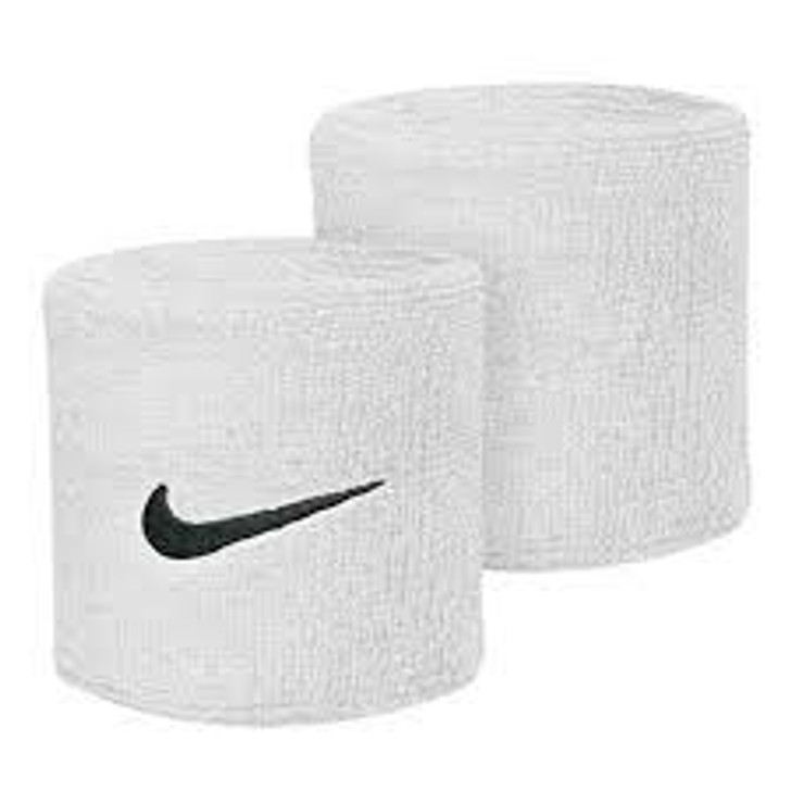 Nike Swoosh Wristbands - White/Black (012420)