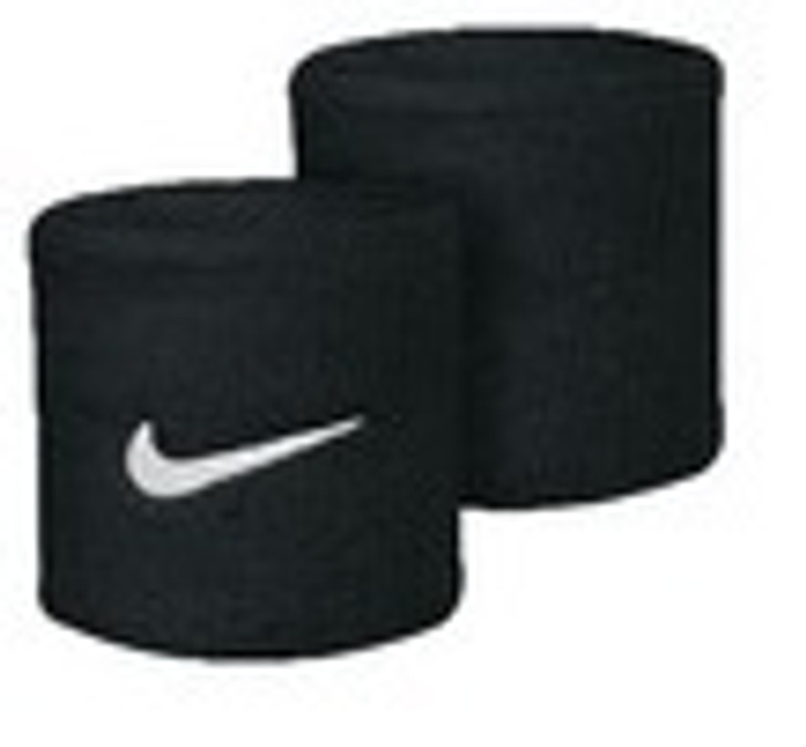 Nike Swoosh Wristbands - Black/White (012420)