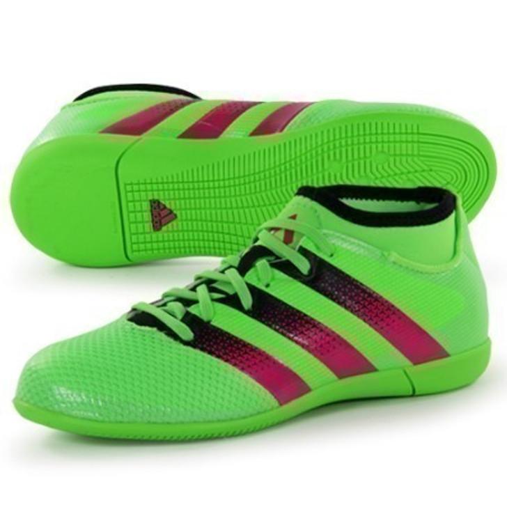 Adidas ACE 16.3 Primemesh IN Jr. - Green/Fuschia/Black (101221)